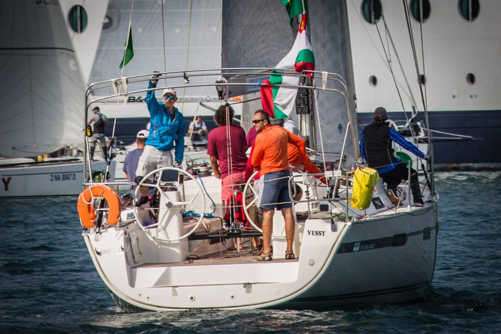 The crew of LZ Yachting Bulgaria at the Rolex Middle Sea Race 2017