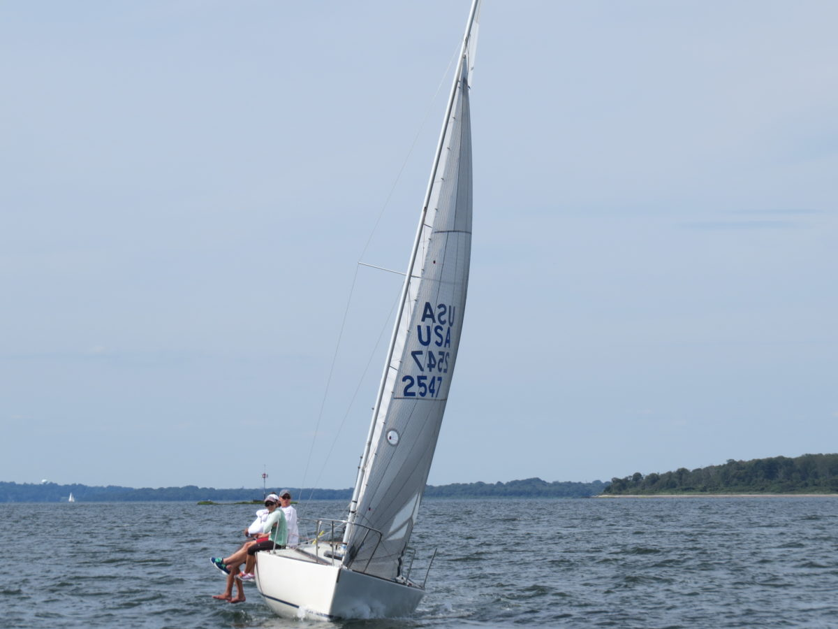 Why is headstay sag fast upwind in light air?